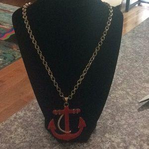 Red Sailor Anchor Pendant Amrita